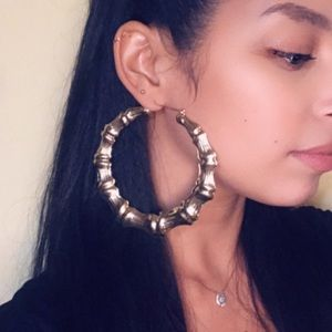 Jewelry - 🆕 Bamboo Hoop earrings